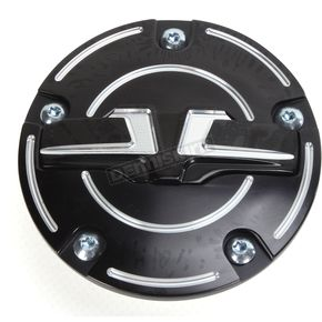 Bahn Black/Chrome Tuxedo Timing Cover - 6930