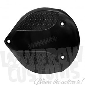 Lowbrow Customs Black Electroplate Fish Scale Air Cleaner Cover - 4034