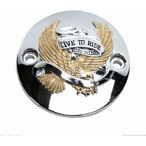 Gold Live to Ride Eagle Points Cover - 0940-1646