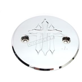 Carl Brouhard Designs Chrome Cross Series Stator Cover - CR-SCIS-C