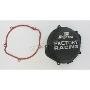 Boyesen Factory Racing Black Clutch Cover - CC-07XB