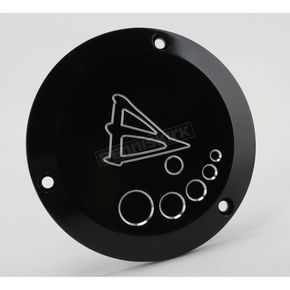 Battistinis 3-Hole Black Anodized Derby Cover  - 03-301