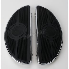 Drag Specialties Chrome Half-Moon Floorboards w/o Vibration Inserts - 1621-0161