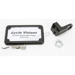 Cycle Visions Black In-Close Horizontal License Plate Holder - CV4607BLH