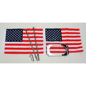 Pro Pad Straight License Plate Frame with 6 in. x 9 in. Flag Mount - RFM-LPM-S