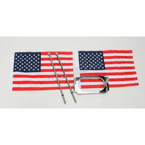 Pro Pad Angled License Plate Frame with 10 in. x 15 in. Flag Mount - RFMLPMA15