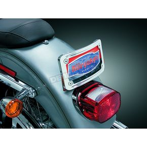 Kuryakyn Curved Tip-Back License Plate Frame - 9198