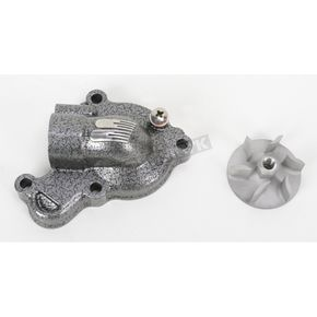 Boyesen Silver Supercooler Water Pump Cover and Impeller Kit - WPK-38A