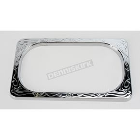 Arlen Ness Chrome Engraved License Plate Frame - 12-141