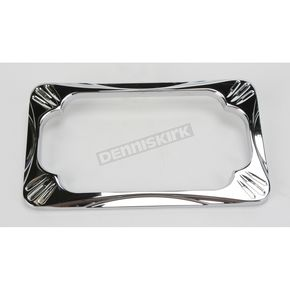 Arlen Ness Chrome Deep Cut License Plate Frame - 12-154