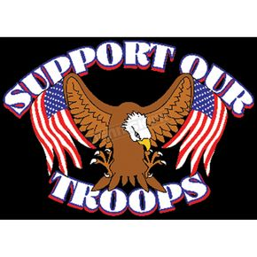 Mustang Support Our Troops Flag - 69009