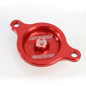 Moose Red Magnetic Oil Filter Covers by ZipTy - 0940-1001