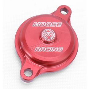 Moose Red Magnetic Oil Filter Covers by ZipTy - 0940-1002
