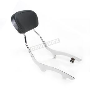Cobra Tall 17 in. Round Sissy Bar w/Pad - 02-7636