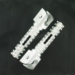 Powerstands Racing Silver SBK Pegs for OEM Mounts - 02-01202-21