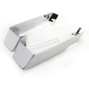 CycleSmiths Chrome 3 in. Billet Saddlebag Extensions w/o Cutouts  - 202-14