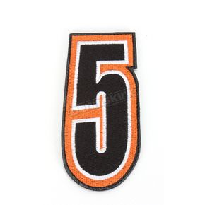 American Kargo Orange/Black 5 in. Number 5 Patch For Gear Bags - 3550-0232
