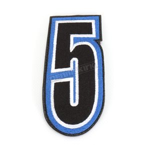 American Kargo Blue/Black 5 in. Number 5 Patch For Gear Bags - 3550-0242