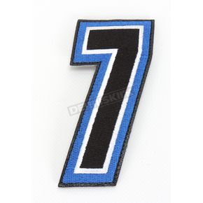 American Kargo Blue/Black 5 in. Number 7 Patch For Gear Bags - 3550-0244