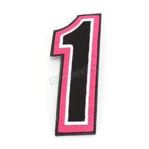 American Kargo Pink/Black 5 in. Number 1 Patch For Gear Bags - 3550-0248