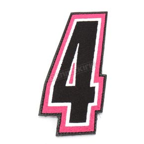 American Kargo Pink/Black 5 in. Number 4 Patch For Gear Bags - 3550-0251