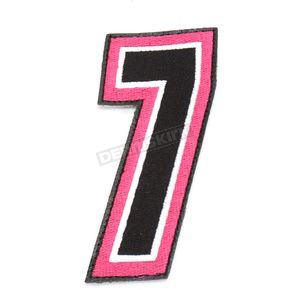 American Kargo Pink/Black 5 in. Number 7 Patch For Gear Bags - 3550-0254