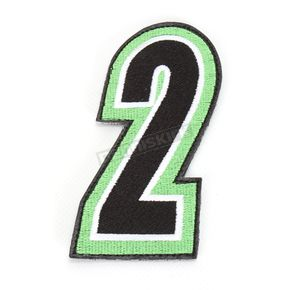 American Kargo Green/Black 5 in. Number 2 Patch For Gear Bags - 3550-0259