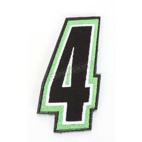 American Kargo Green/Black 5 in. Number 4 Patch For Gear Bags - 3550-0261