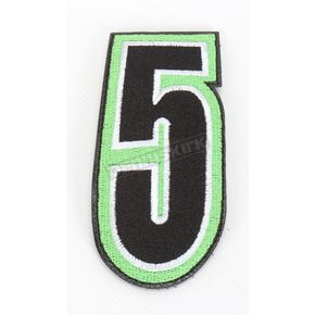 American Kargo Green/Black 5 in. Number 5 Patch For Gear Bags - 3550-0262