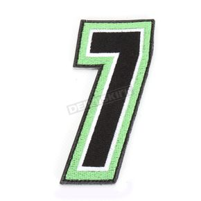 American Kargo Green/Black 5 in. Number 7 Patch For Gear Bags - 3550-0264