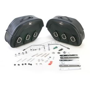 Saddlemen Rigid-Mount Specific-Fit Quick-Detach Drifter Slant Saddlebags - 3501-0228