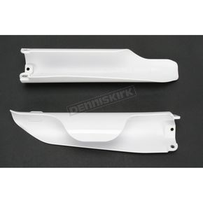 Acerbis White Lower Fork Cover Set for Inverted Forks - 2113760002
