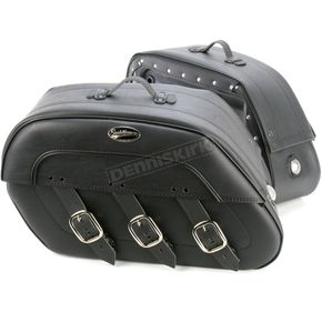 Saddlemen Drifter S4 Rigid-Mount Specific-Fit Quick-Disconnect Saddlebags w/Integrated LED Auxiliary Lights - 3501-0393-LEB