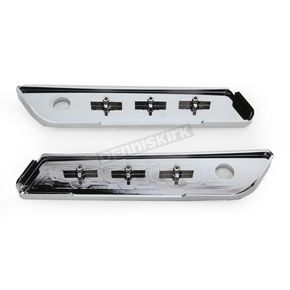 Arlen Ness Chrome Slot Track Dresser Saddlebag Latch Covers - 03-538