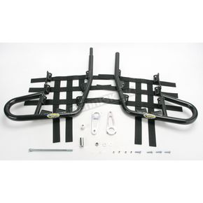 Motorsport Products Black Alloy Nerf Bars w/Black Webbing - 81-3412