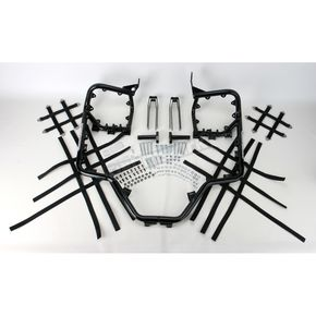 Pro Armor Black Nerf Bars w/Net Heel Guards - H042078BL