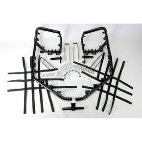 Pro Armor Black Nerf Bars w/Plate Heel Guards - Y063037BL