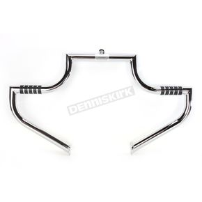The Magnumbar Chrome Highway Bar w/Wide Band O-Ring Footrests - 1702