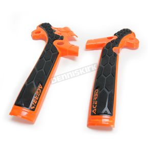 Acerbis Orange/Black X-Grip Frame Guards - 2449525225