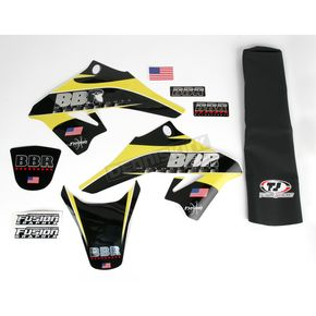 BBR Motorsports Complete Chrome Graphics Kit with Seat Cover - 710-DRZ-7021