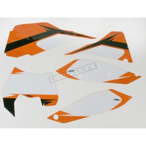 Factory Effex Pre-Cut White Graphic Number Plate Kit - 12-64522
