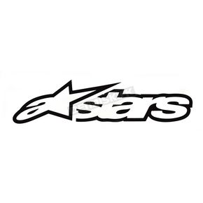 Alpinestars 8 in. Black Astar Sticker - 1010-97004-10