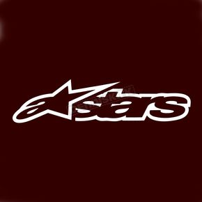 Alpinestars 8 in. White Astar Sticker - 1010-97004-20