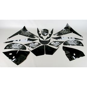 Face Lift Unlimited Sportbike Black/White Graphic Kit - 60004