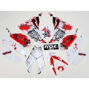 Face Lift Unlimited Sportbike White/Red Graphic Kit - 60201