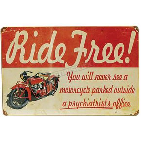 Mustang Seats Vintage Ride Free Heavy Metal Sign - 61898