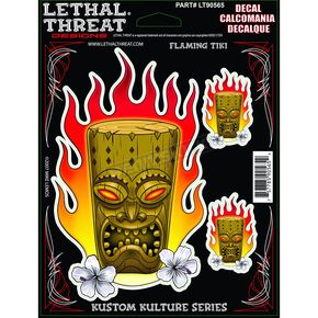 Lethal Threat Flamin Tiki Decal - 1600-0122