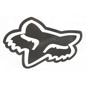 Fox Black 4 in. FoxHead Sticker - 14422-001-NS