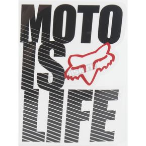 Fox Moto Is Life Sticker - 14486-001-NS