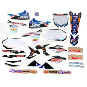 N-Style White JGR Race Team Graphics Kit w/Seat Cover - N402680